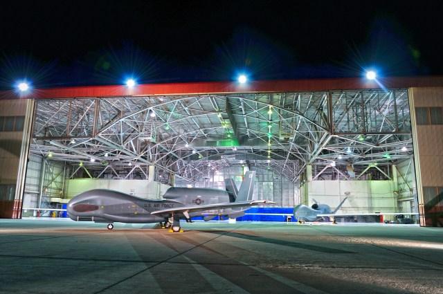 Global Hawk in hanger