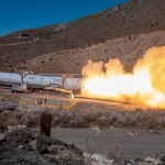 rocket motor test fire