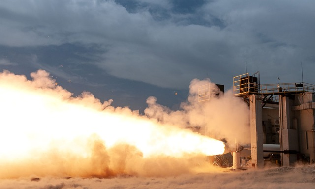 The new GEM 63XL motor is tested for ULA's Vulcan Centaur launch vehicle.