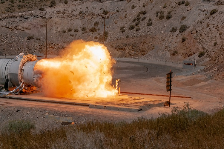 Motor during test fire