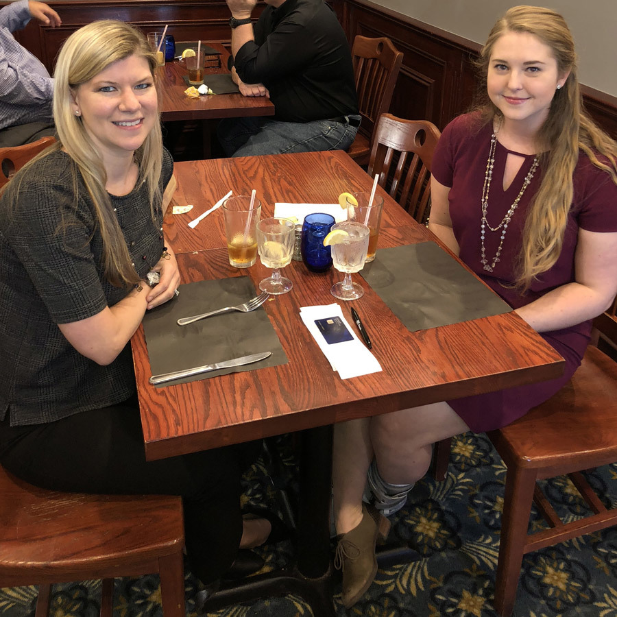Rachel and Kim find time to discuss goals, experience and life at Northrop Grumman.