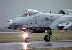 A-10 Thunderbolt II on runway