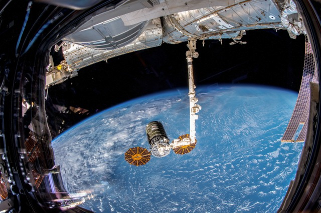 Northrop Grumman Cygnus spacecraft at International Space Station