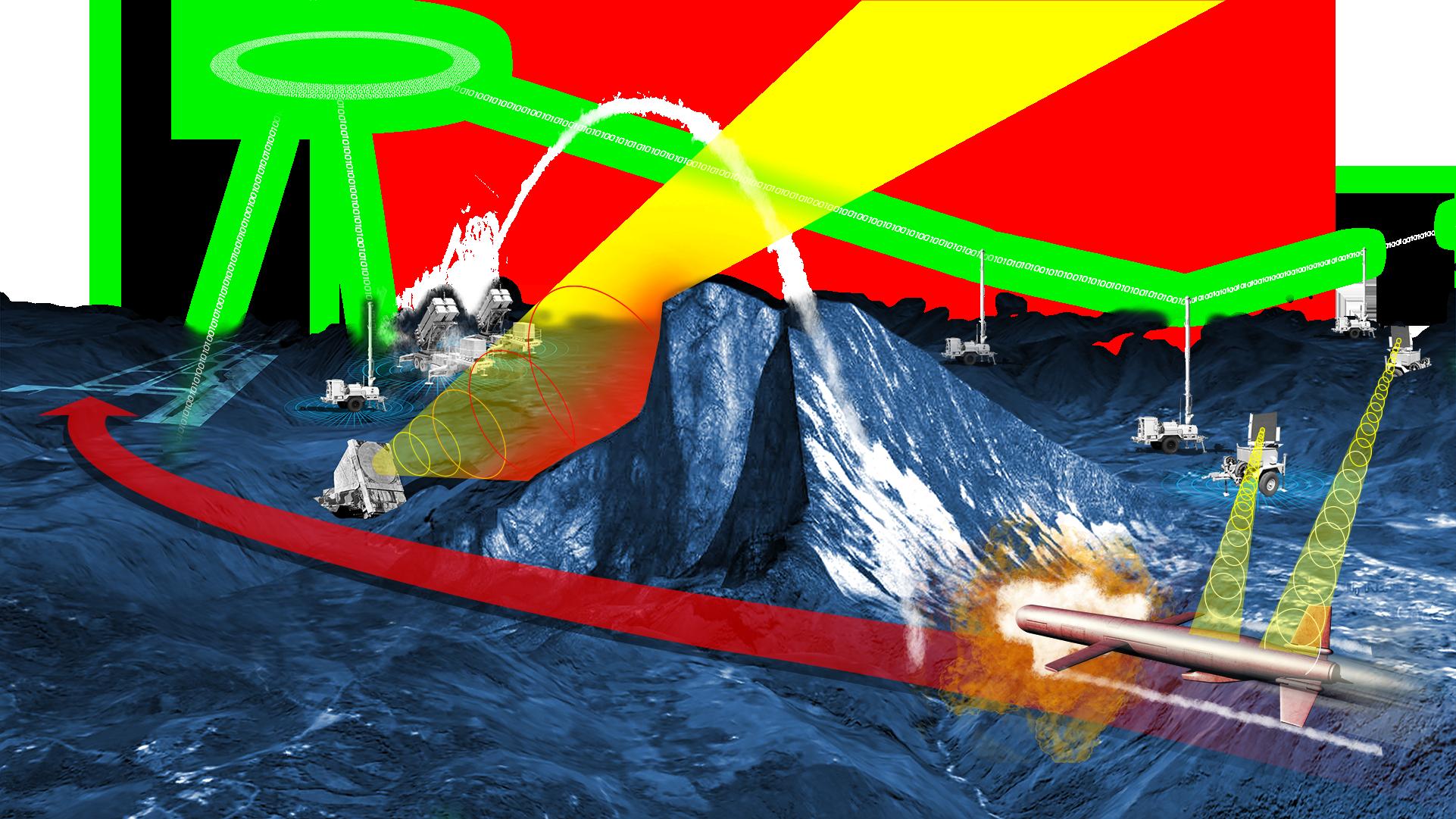 Northrop Grumman missile defense graphic