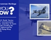 Postage stamps of two airplanes