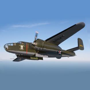 b-25 bomber in flight