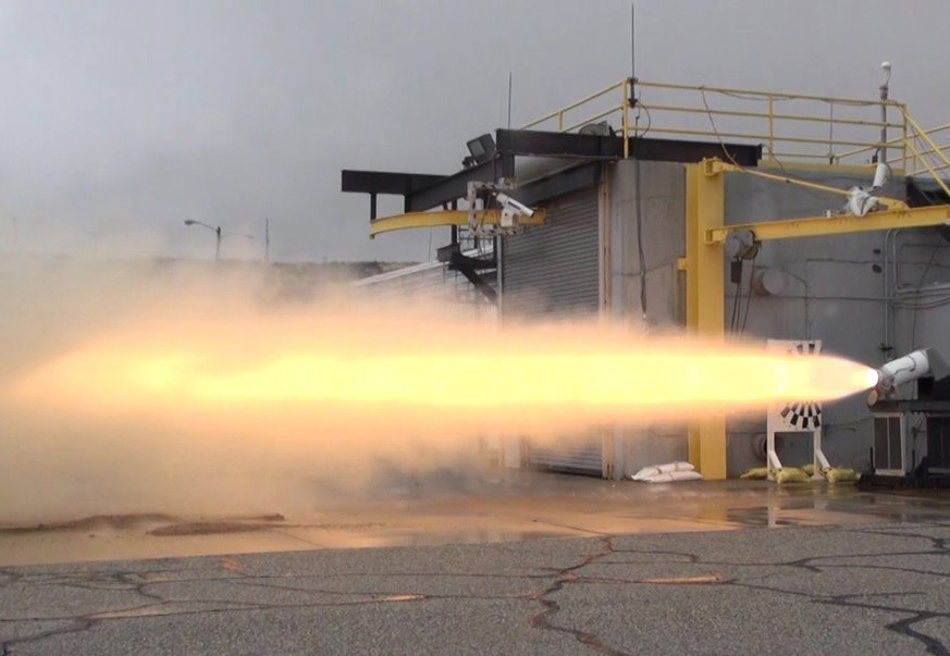 booster separation motor test fire