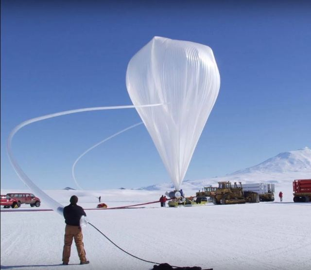 Weather Balloon in an arctic setting