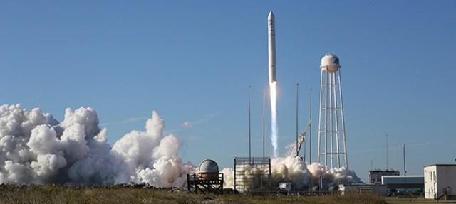 Antares rocket launch from NASA Wallops Flight Facility Virginia