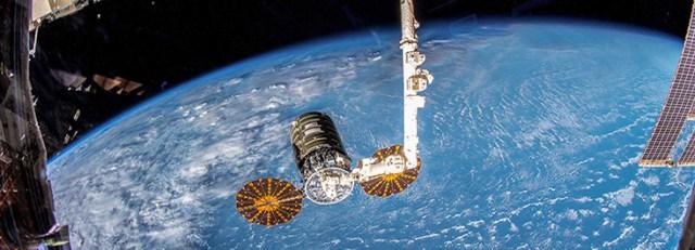 Cygnus spacecraft at International Space Station