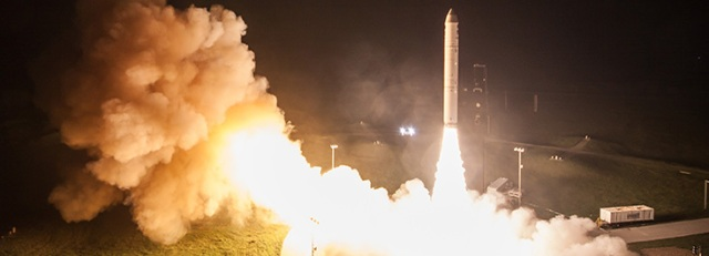 Minotaur rocket launch from Vandenberg U.S. Air Force