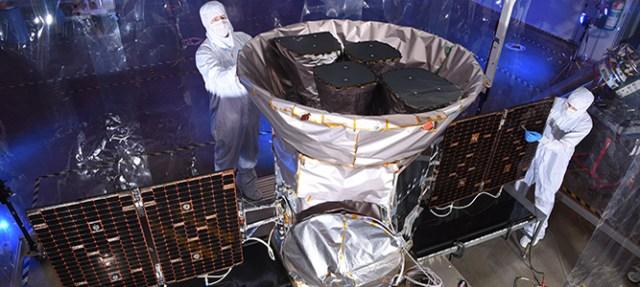 TESS Satellite at Dulles Satellite Manufacturing facility
