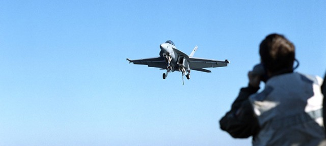 F/A-18 Super Hornet in flight