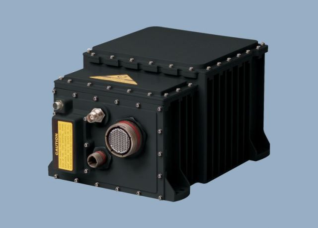 Electronic box with inertial navigation system