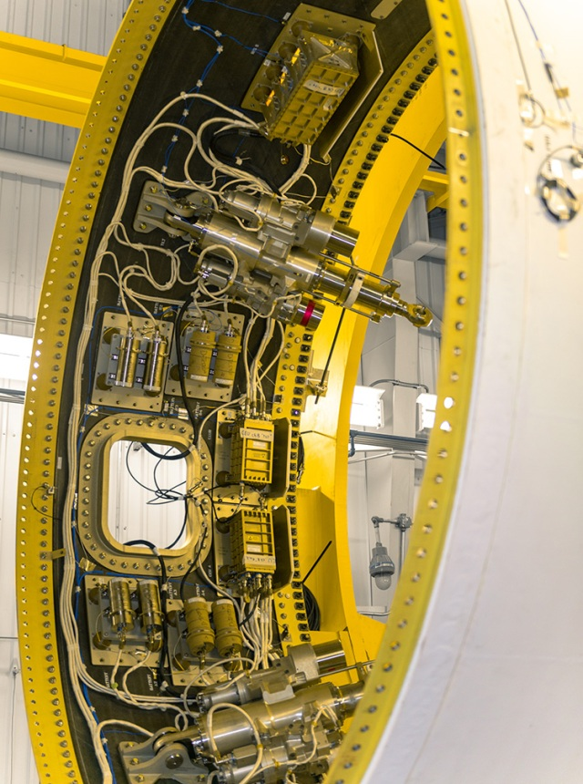 The avionics housed inside the aft skirt of the OmegA second stage will monitor the motor during firing. (January 2020)