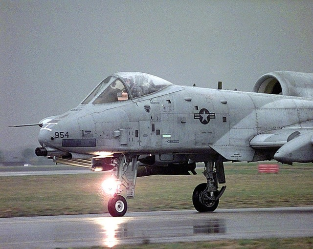 A-10 Thunderbolt on runway