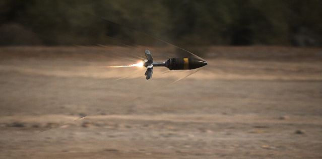 ammunition being fired into the air