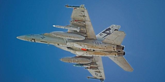military jet flying