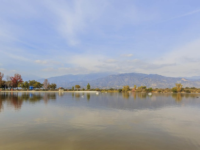 Lake with view of mountains