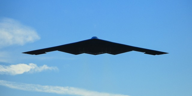 B-2 Stealth Bomber flying in the sky