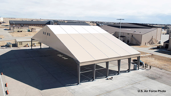 Large tent on military base