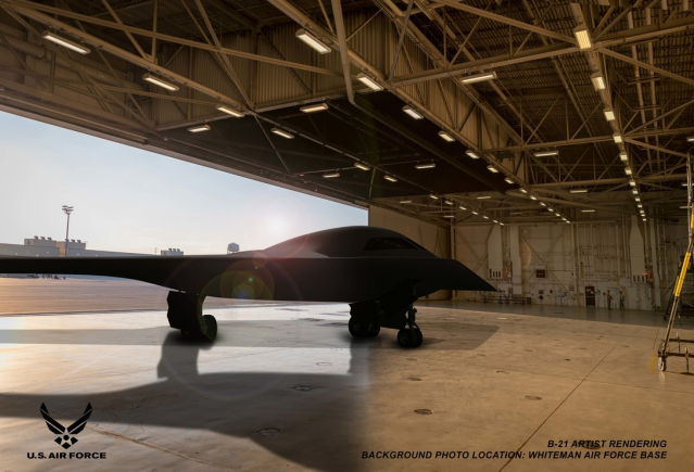 rendering of a B-21 Raider concept