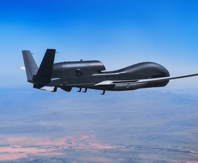 unmanned aircraft in flight