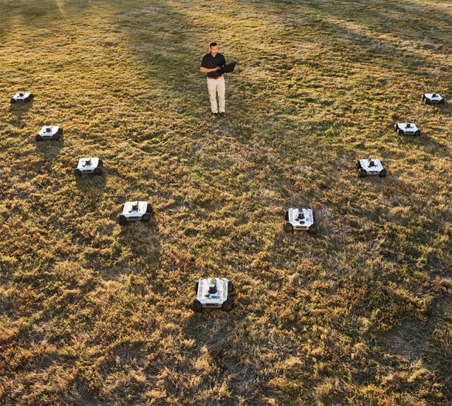 multiple drones on ground