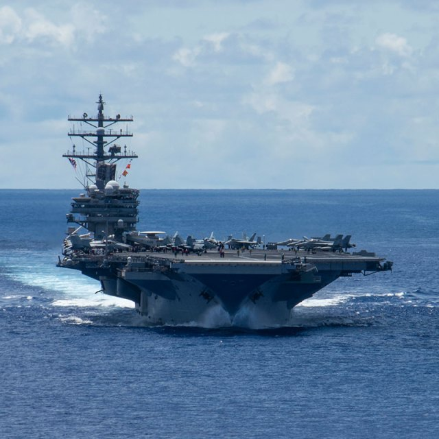 aircraft carrier at sea