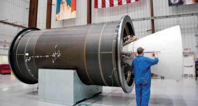 CASTOR Motor in the hanger. Northrop Grumman