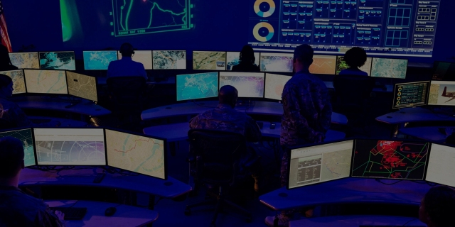 Soliders in control room