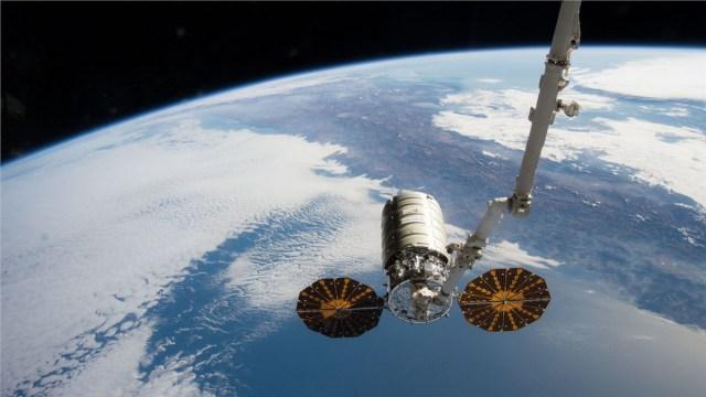 Cygnus Spacecraft in orbit around Earth