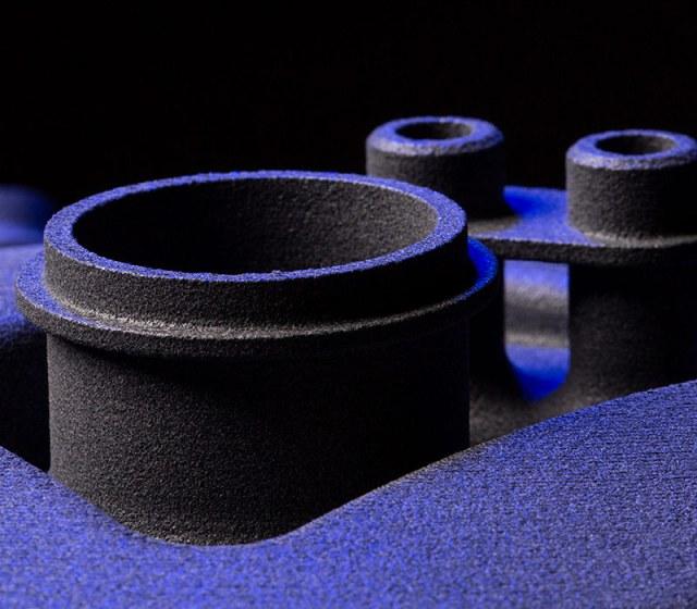 3D printed purple pipes