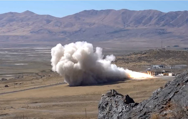 Rocket Motor Test Fire Utah