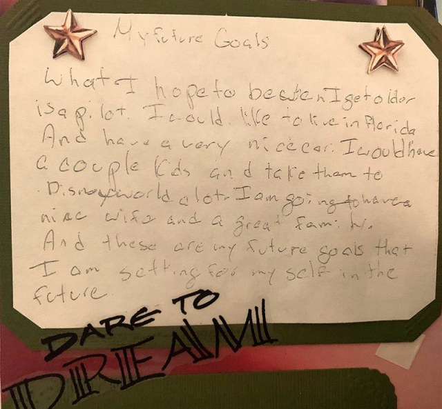 my future goals letter from child