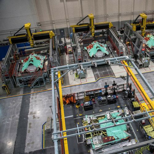 Top view of the F35 Assembly Line