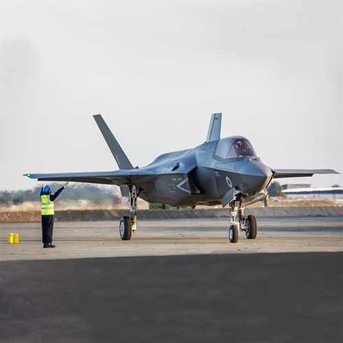 F-35 Fighter Jet on runway