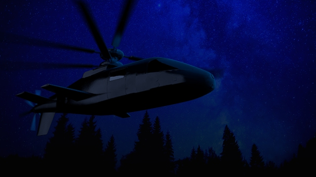 aircraft in night sky
