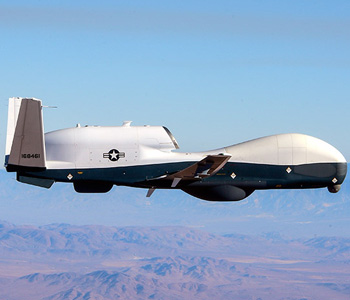 Pictue of MQ-4C Triton in the sky