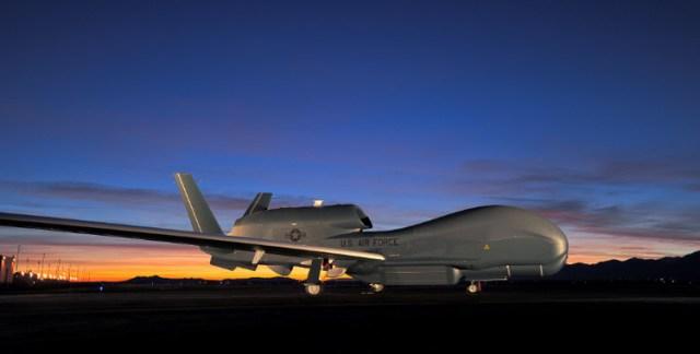 aircraft on ground at sunset