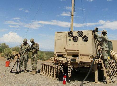 Soldiers set up IBCS at White Sands Missile Range