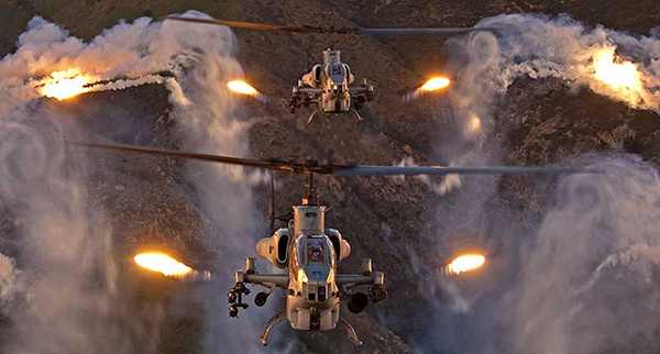 Helicopter Illuminating Flares Aircraft Countermeasures