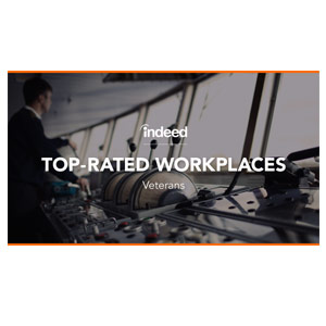 Indeed's Top-Rated Workplaces – Best for Veterans – 2019