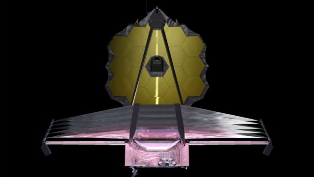 Artist rendering of James Webb Space Telescope