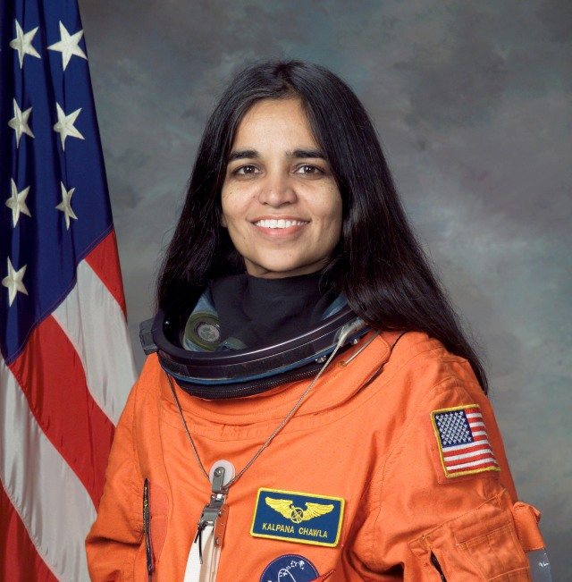 Head shot of female indian Astronaut