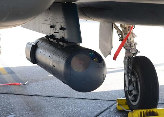 LITENING advanced targeting pod installed on F-15