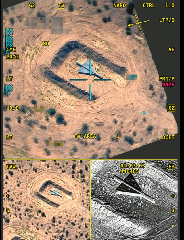 LITENING advanced targeting pod color air-to-ground imagery