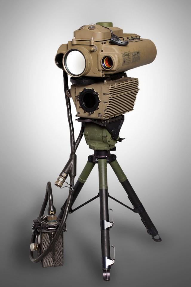 Laser Designator Rangefinder mounted on tripod
