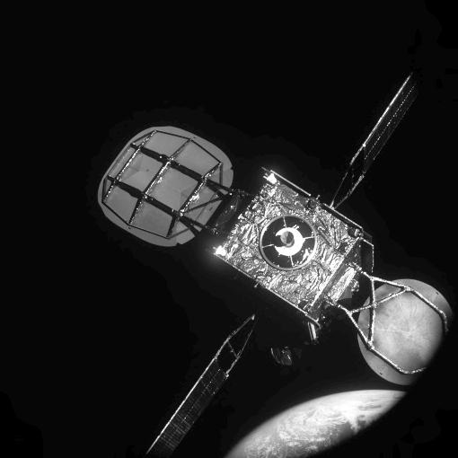Intelsat satellite close up