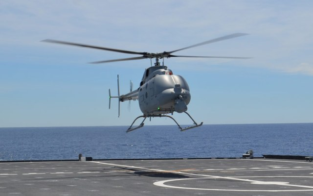 Helicopter landing on ship